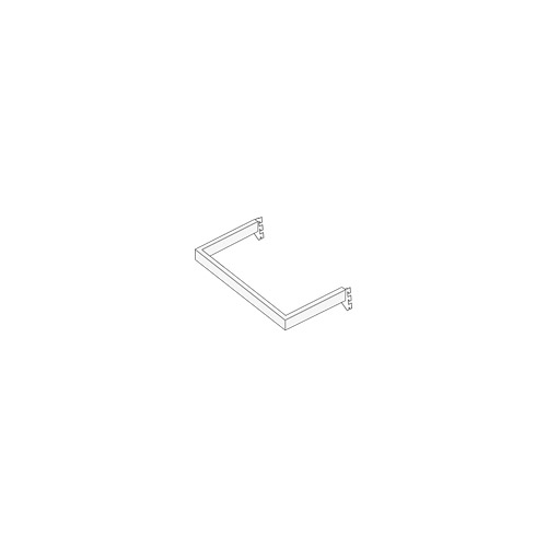 25mm x 12mm Side Hanger with Fixed Ends